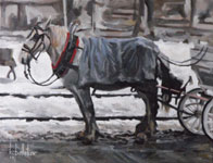 Un Cheval dans le Vieux -- 3rd Place Winner, The Art Gallery (TAG) Cornwall 2014